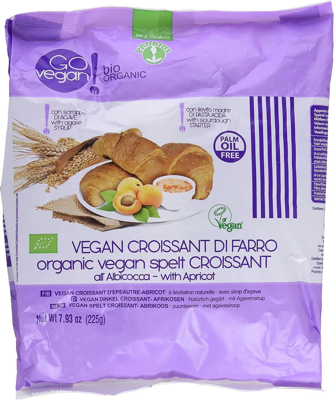 Probios Go Vegan Croissant de Espelta con Mermelada de Albaricoque - 2 paquetes con 5 unidades, 225 g: Amazon.es: Alimentación y bebidas