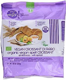 Probios Go Vegan Croissant de Espelta con Mermelada de Albaricoque - 2 paquetes con 5 unidades