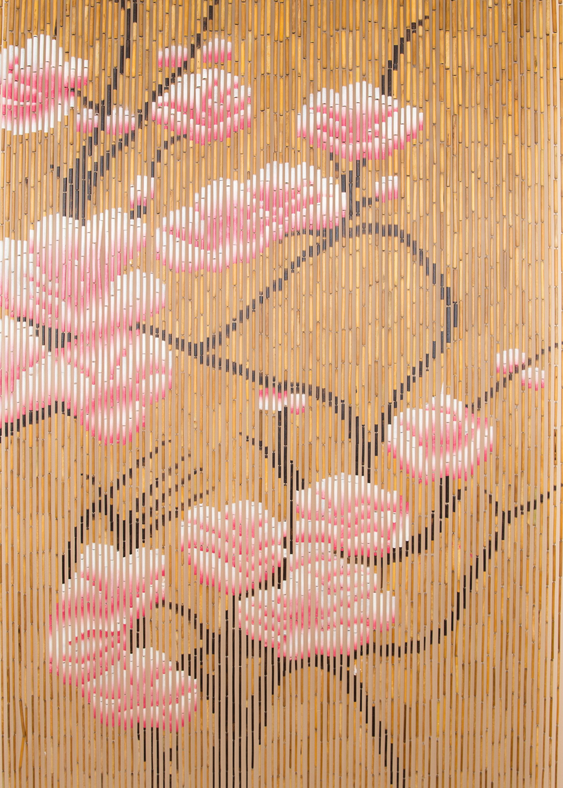 BeadedString Natural Bamboo Wood Beaded Curtain-90 Starnds-80 High-Boho Door Beads-Bohemian Doorway Curtain-35.5'' Wx80 H-Blossom by BeadedString (Image #7)