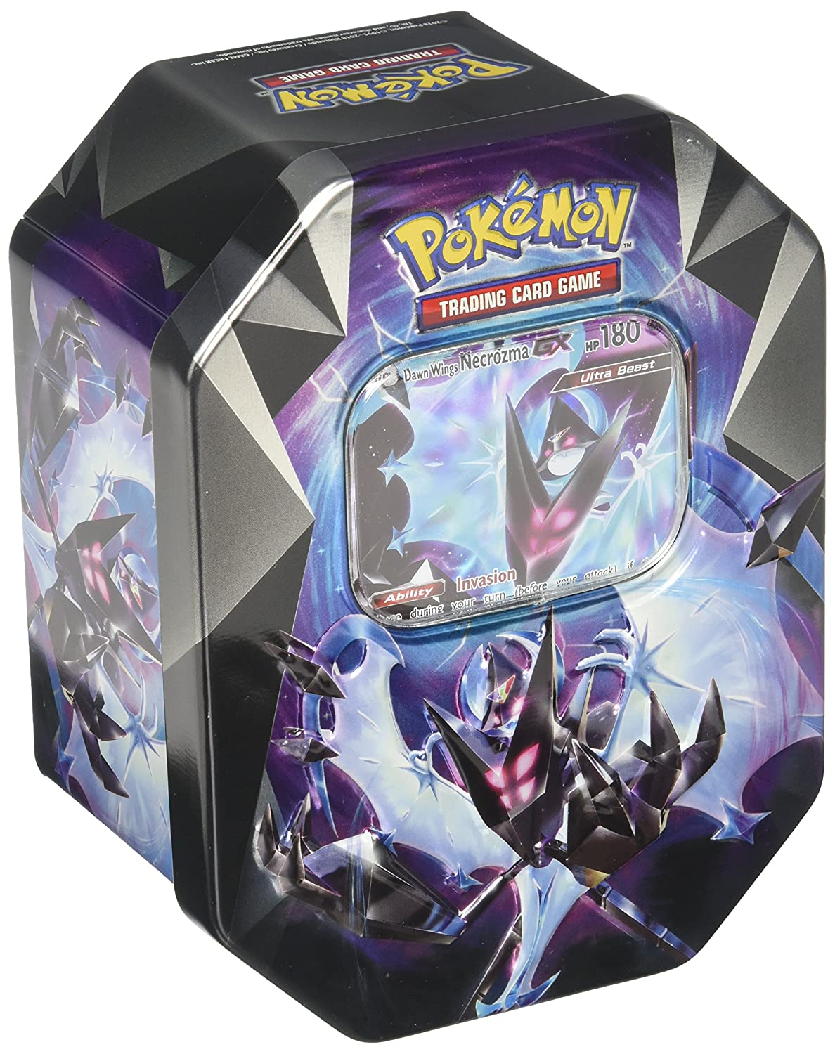 Pokemon TCG: Dawn Wings Necrozma-GX Prism Tin 097712540580
