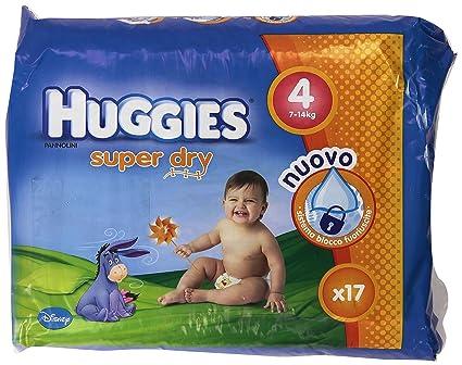 Huggies - Super Dry - Pañales - Talla 4 (7-14 kg) -