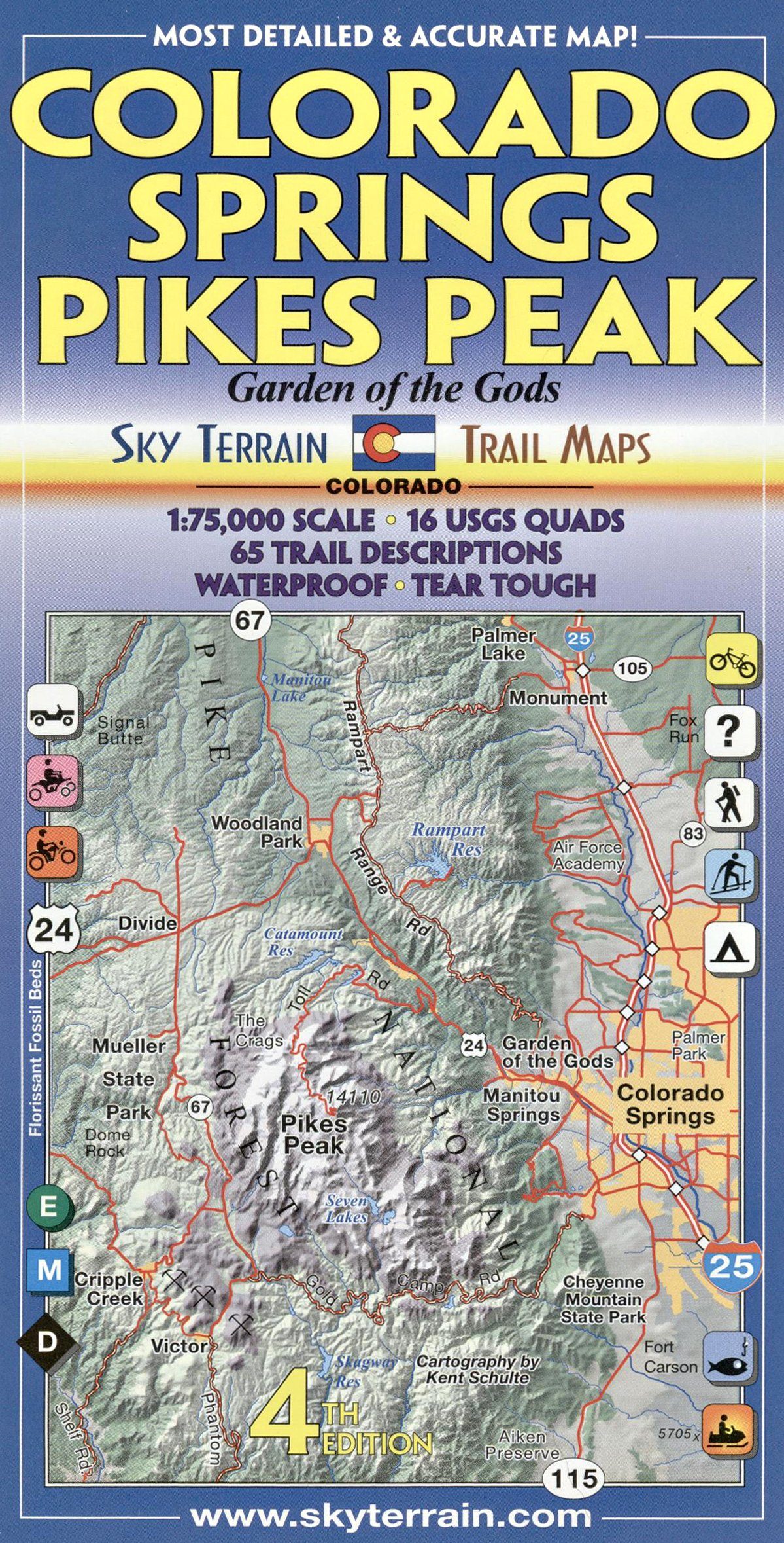colorado springs  pikes peak trail map th edition kent schulte amazoncom books. colorado springs  pikes peak trail map th edition kent schulte
