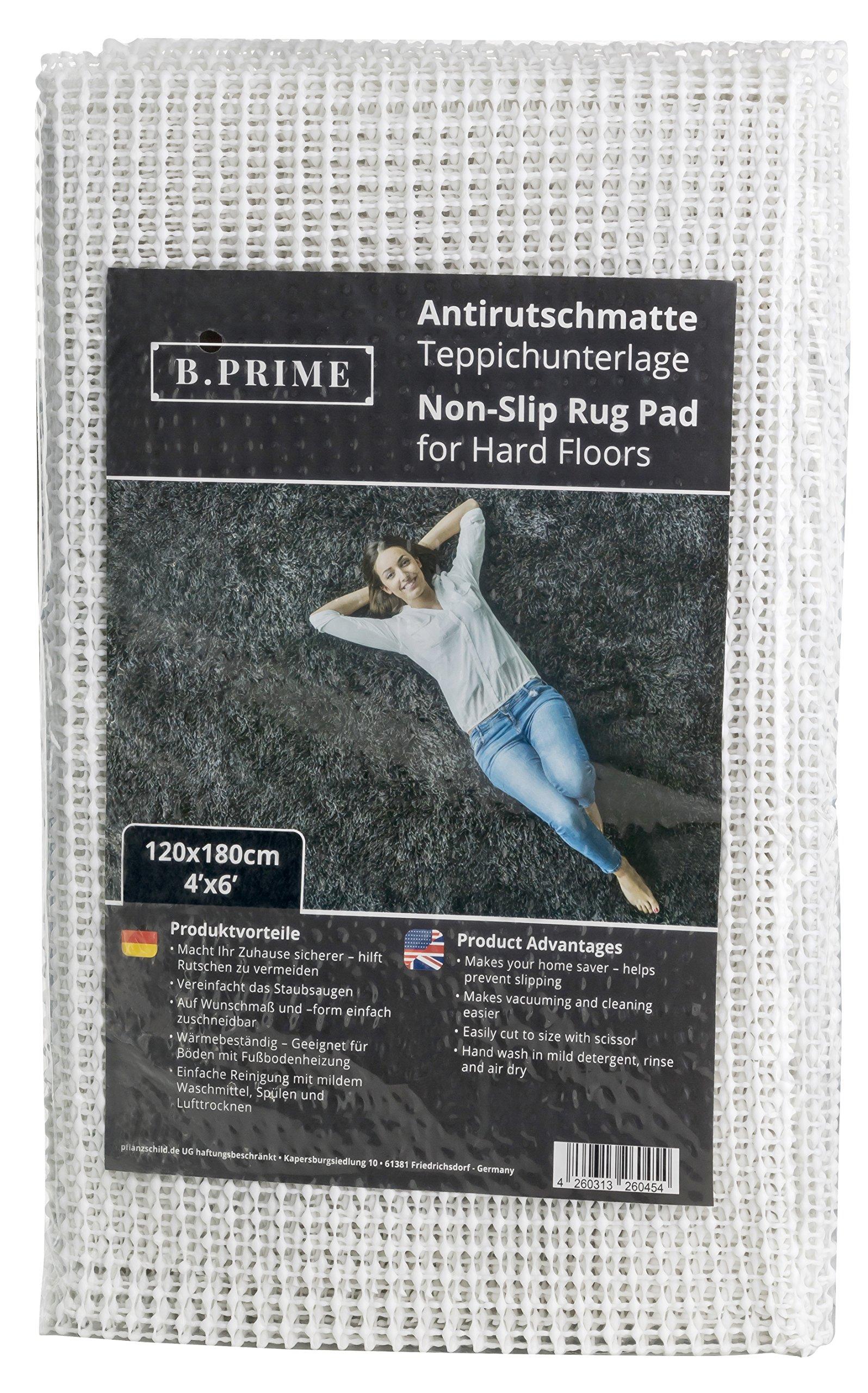 B.PRIME 4x6-Feet Non-Slip Area Rug Pad for Hard Floors I Anti-Slip mat I Carpet mat I Rug Underlay I Carpet Underlay I Anti-Slip Protection for Carpets