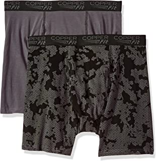 Copper Fit Mens Active Comfort Boxer Brief Two Pack