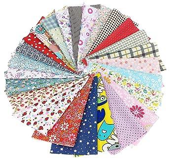 4e55a71170 25 pz Tessuti Stampato Cotone Tessuti e Stoffe a Metro Cotone Tessuti Stoffe  per Patchwork Scampoli Stoffa Fatansia per Cucito Creativo 20cmx20cm: ...