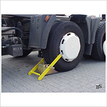 Autoridades cepo de rueda para camiones y autobuses de hasta 40 t y 370 mm anchura del