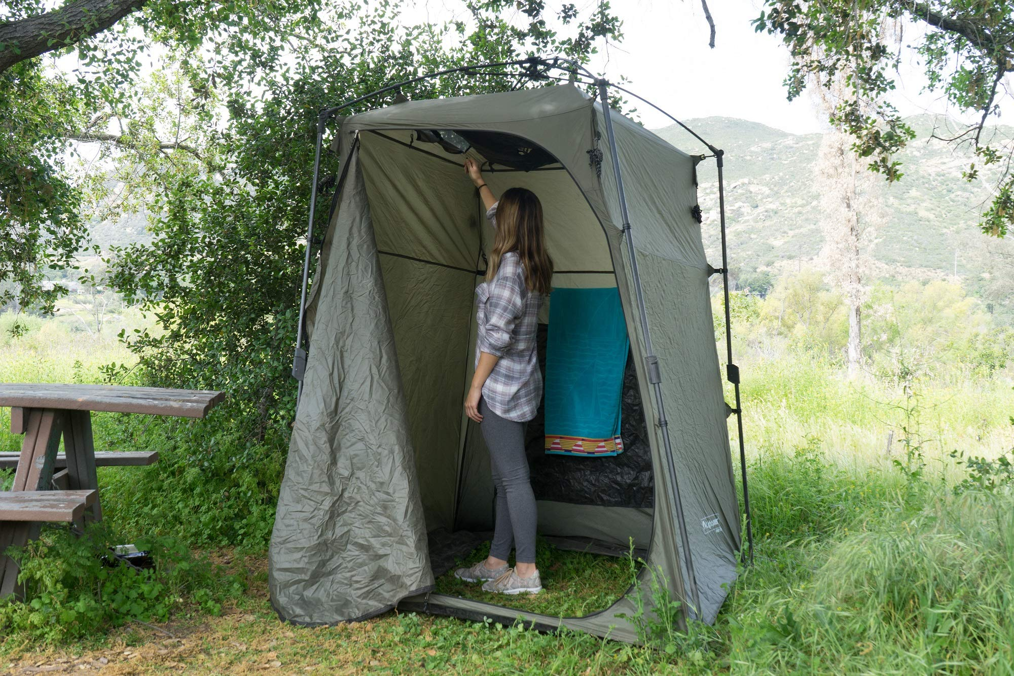 Lightspeed Outdoors Xtra Wide Quick Set Up Privacy Tent, Toilet, Camp Shower, Portable Changing Room by Lightspeed Outdoors (Image #3)