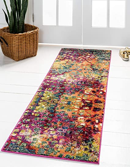 Unique Loom Abstract Jardin Area Rug