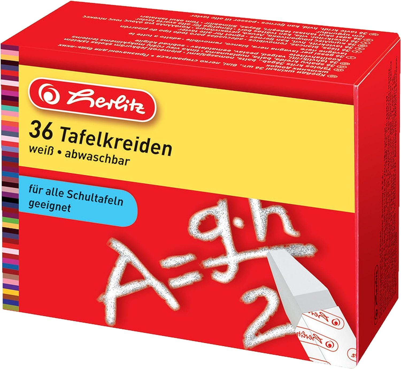 24 St/ück papiergewickelt Herlitz Tafelkreide abwaschbar farbig sortiert