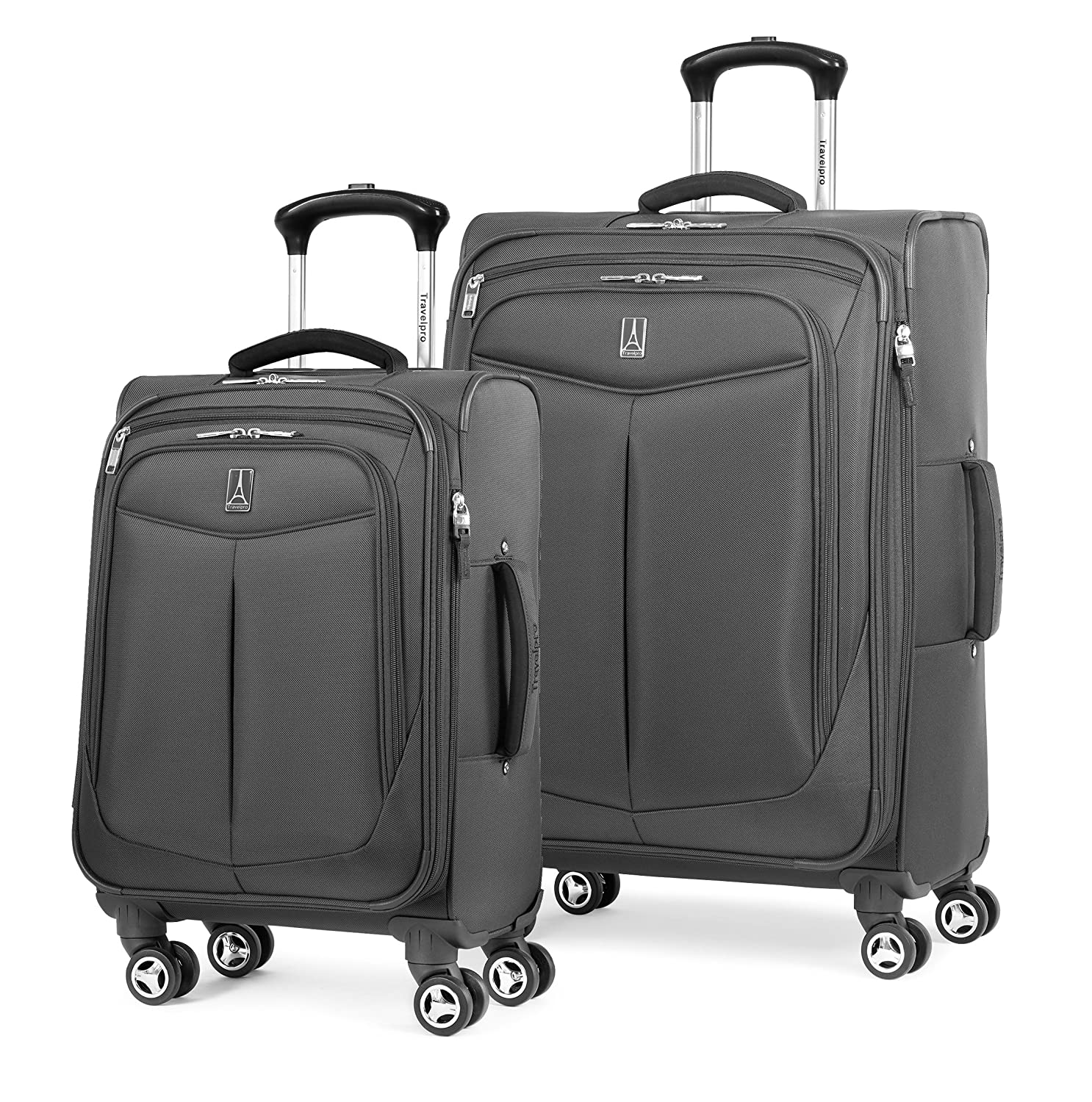 b7e9d2347d31 Travelpro Inflight 2 Piece Spinner Luggage Set, Black