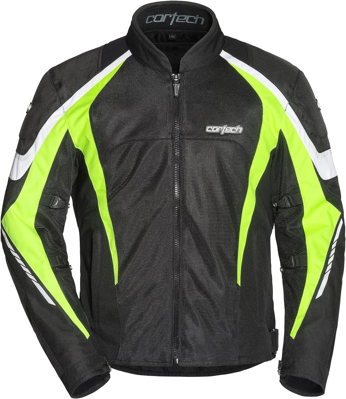 Cortech Mens GX-Sport Air 5.0 Jacket Black//Hi-Viz Large