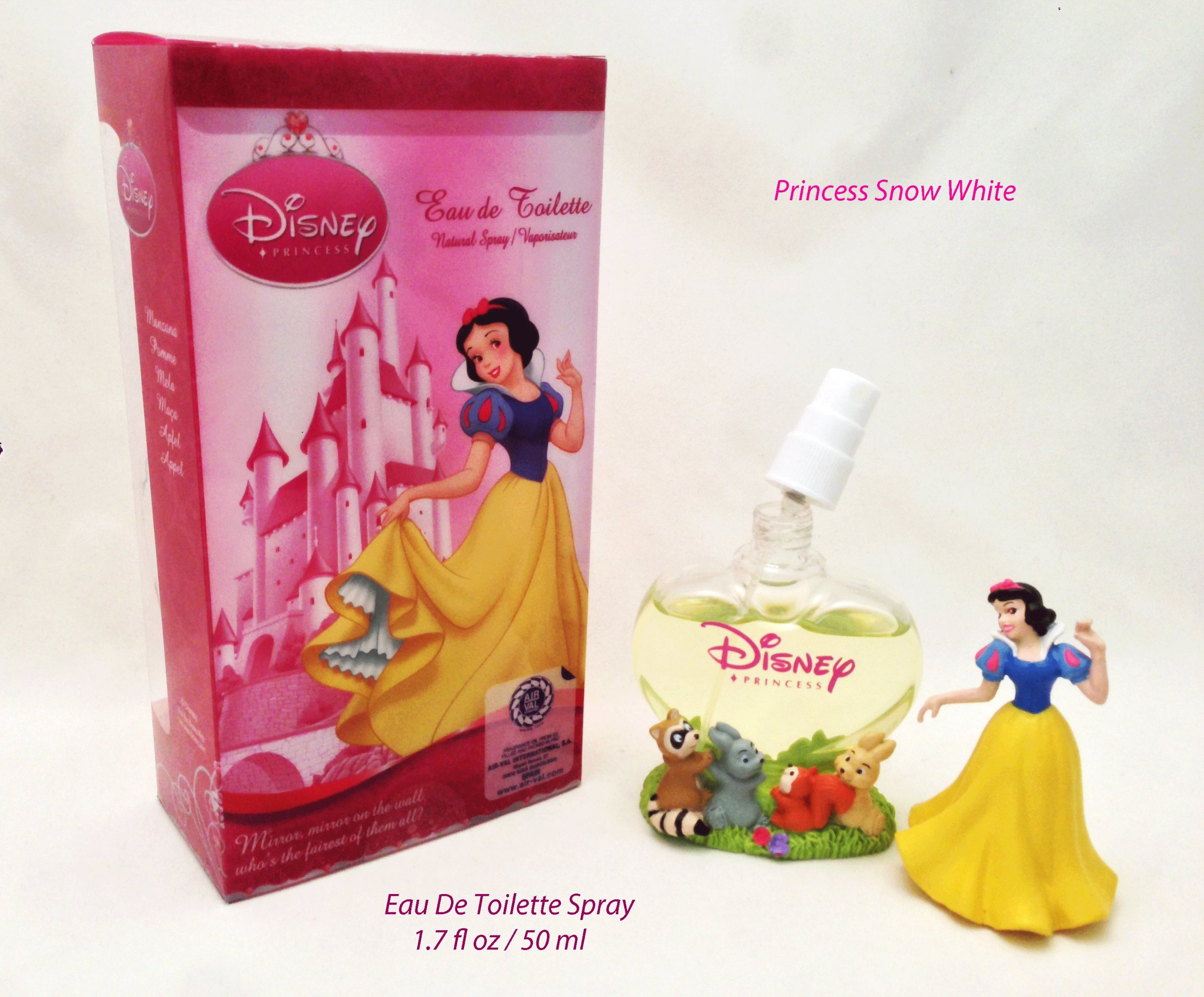 Disney Princess Snow White (Refillable Bottle) For Girls, Kids Eau De Toilette Spray 1.7 oz / 50 ml