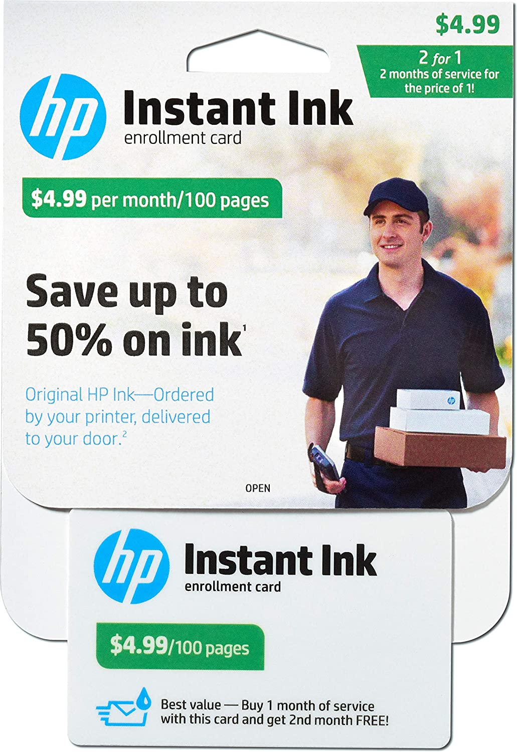 HP Instant Ink Enrollment Card - 100 page plan - Cartucho de ...