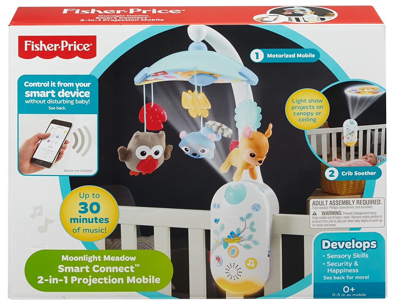 Fisher Price Moonlight Meadow Smart Connect 2 In 1