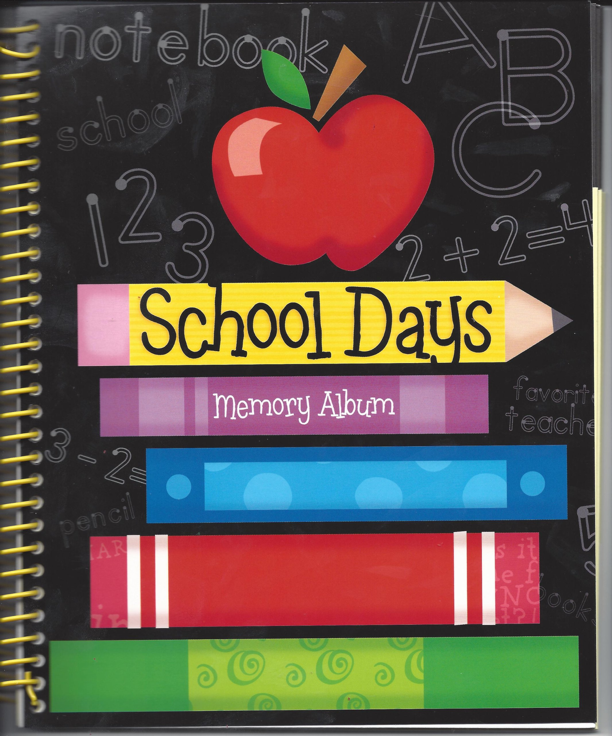 SCHOOL MEMORIES KEEPSAKE - Spiral Bound - Pre-K to 6th Grade