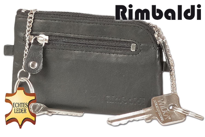Rimbaldi Sac de cl/és en cuir 2 porte-cl/és et anneau en cuir souple de veau non trait/ée dans Jade Vert