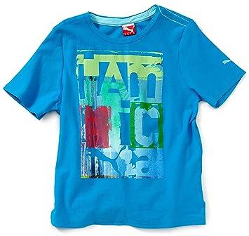 Jamaica Fun Garçon Shirt Pour Coton Bleu Biologique 128 Puma T E9YeWDIbH2