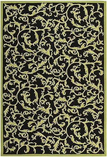 Safavieh Chelsea Collection HK307B Hand-Hooked Black Premium Wool Area Rug 7'9″ x 9'9″
