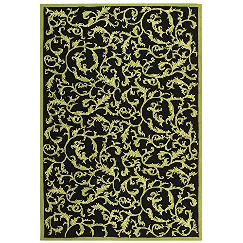 Safavieh Chelsea Collection HK307B Hand-Hooked Black Premium Wool Area Rug 2 6 x 4