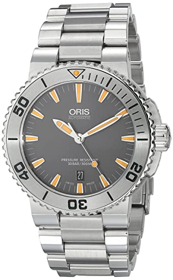 Oris 73376534158MB - Reloj de pulsera hombre, acero inoxidable, color Plata: Oris: Amazon.es: Relojes