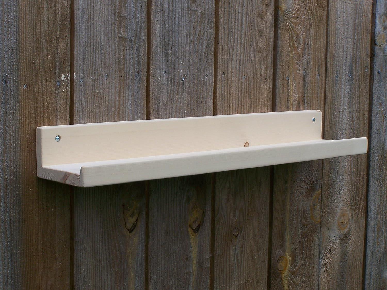 38 Narrow Unfinished 36 40 or 42 Inch Floating ledge Shelf Picture ledge Shelf You Choose Your length