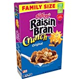 Kellogg's Raisin Bran Crunch, Breakfast Cereal, Original, Good Source of Fiber, Family Size, 24.8 oz Box