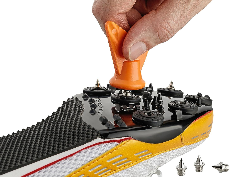 Spikes 6 mm Nägel für Leichtathletik 14 Stück incl. Schlüssel LAUFSTOFF (Farbe sortiert) M010