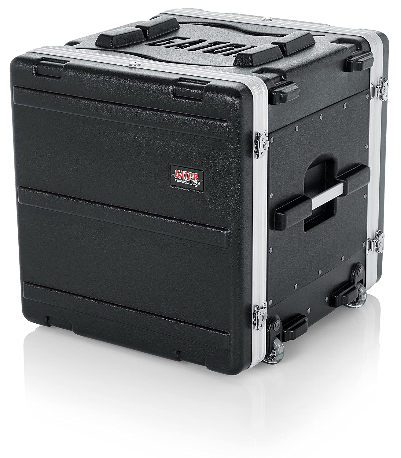 B0002BG4S4 Gator Cases Lightweight Rolling Rack Case with Retractable Tow Handle and Recessed Wheels; 10U (GRR-10L) 91KCtl4h-GL