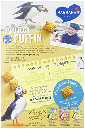 Barbara's Bakery Puffins Cereal, Original, 10 Ounce (Pack of