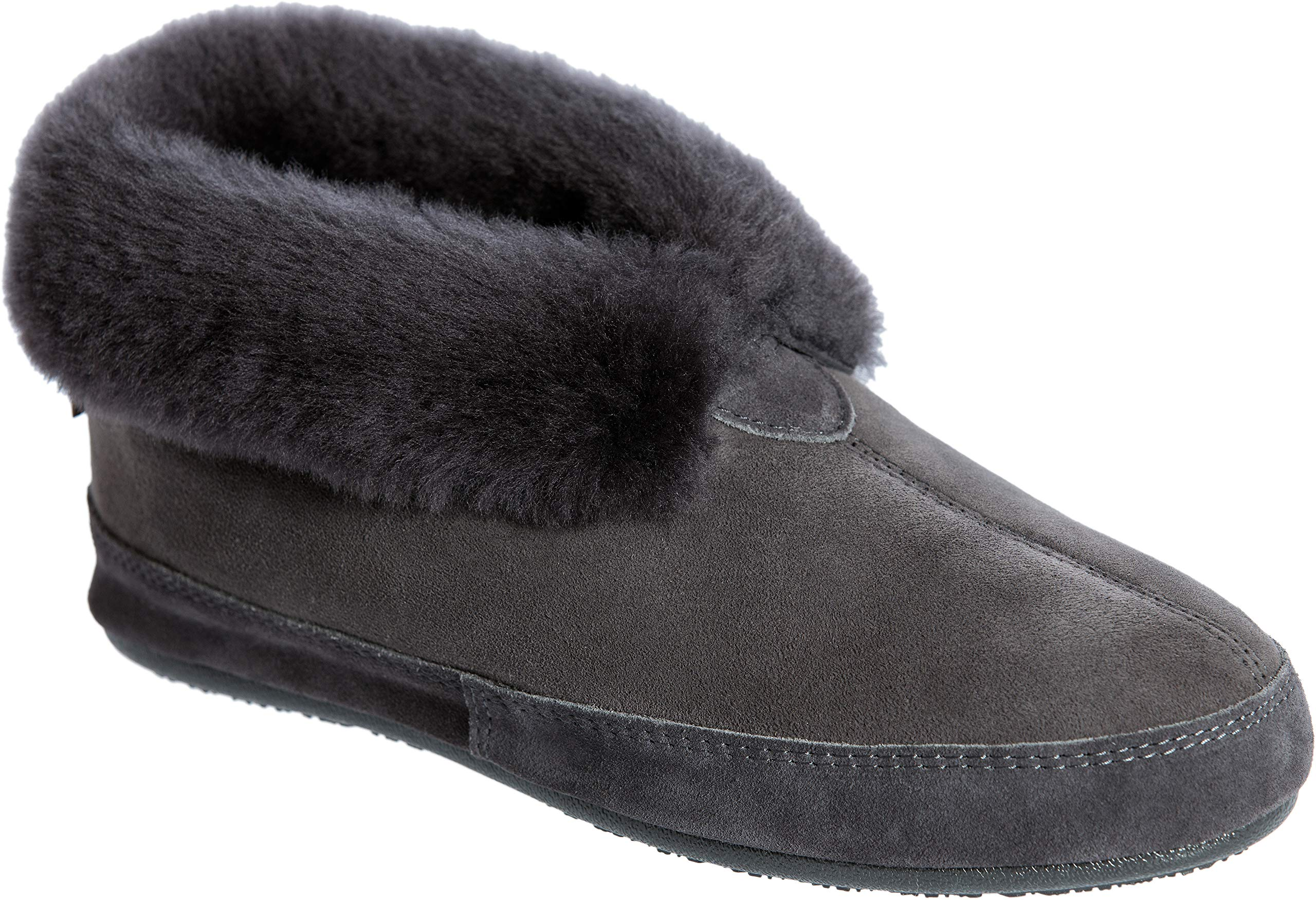 Men's Ethan Classic Australian Merino Sheepskin Slippers Charcoal by Overland Sheepskin Co