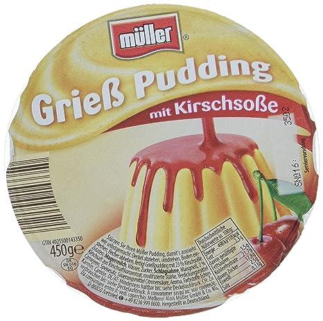 Müller Grießpudding mit Kirschsoße, 450 g: Amazon.de: Lebensmittel ...