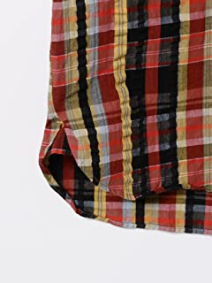 Short Sleeve Check Seersucker Buttondown Shirt 11-01-0733-139: Dark