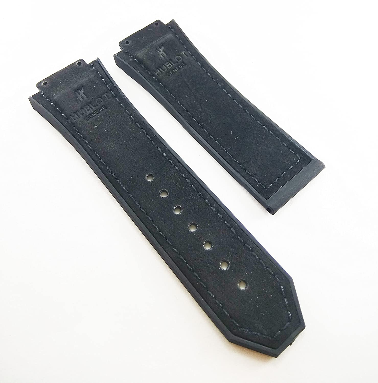 28 mm x 19 mmストラップにフィットウブロビッグバンメンズ腕時計バンド交換用ストラップ  B07CVXL1VM