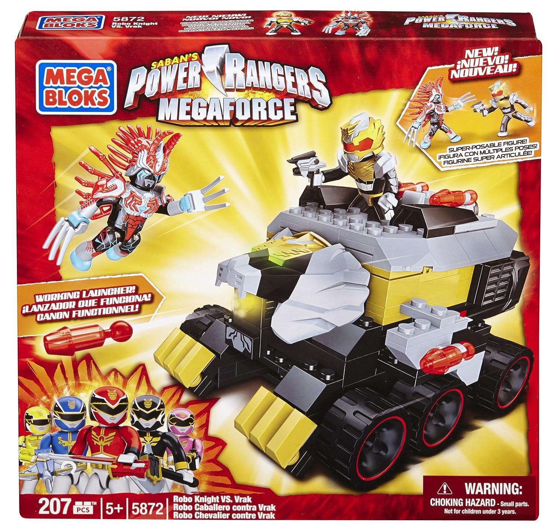 Amazon.com: Mega Bloks Power Rangers Megaforce - Robo Knight vs ...