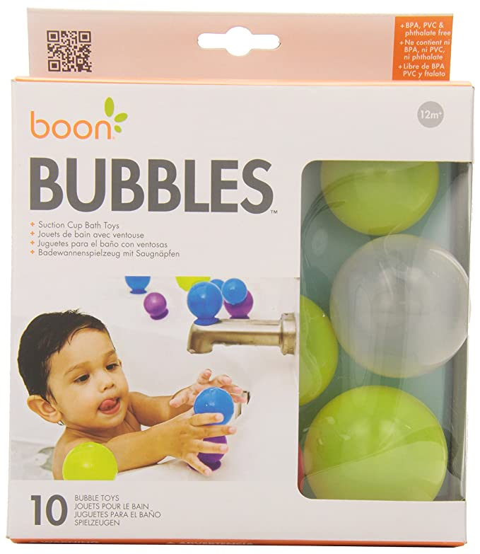 Amazon.com : Boon Bubbles Suction Cup Bath Toys, Yellow : Suction ...
