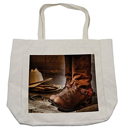 65db8323db47 Amazon.com - Lunarable Western Shopping Bag