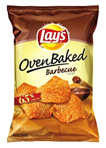 Baked Lay's Oven Potato Crisps, Barbecue, 43.75 Ounce (Pack of 7)