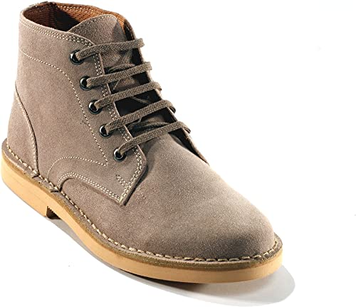Mens New Extra Wide 4E Fitting Desert Boots Navy Size 10