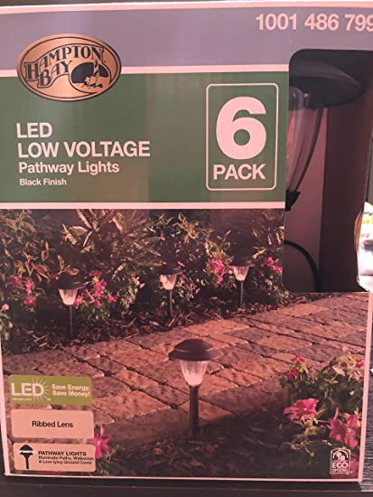 Hampton Bay Low-Voltage Black Outdoor Integrated LED Landscape Path Light Set with Transformer (6-Pack) - - Amazon.com