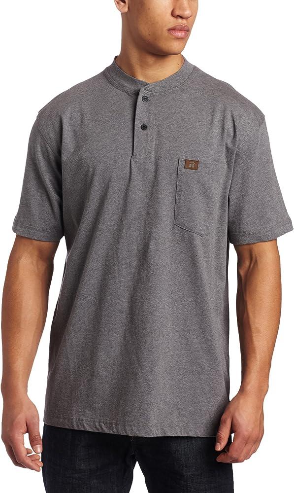 3X Charcoal Gray Wrangler Riggs Workwear Mens Tall Long Sleeve Henley Tee