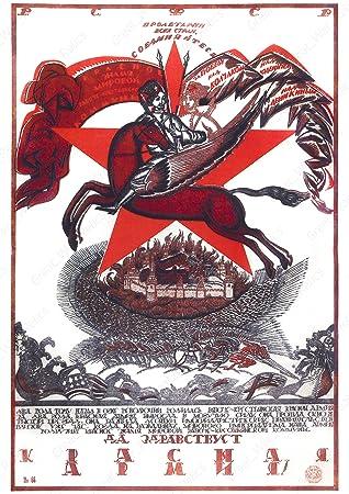 Amazon.com: Propaganda Soviética – Póster de WW2 Russian ...