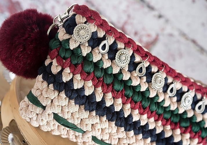 Gallaecia Studio Boho clutch bolso de mano para mujer: Amazon.es: Handmade