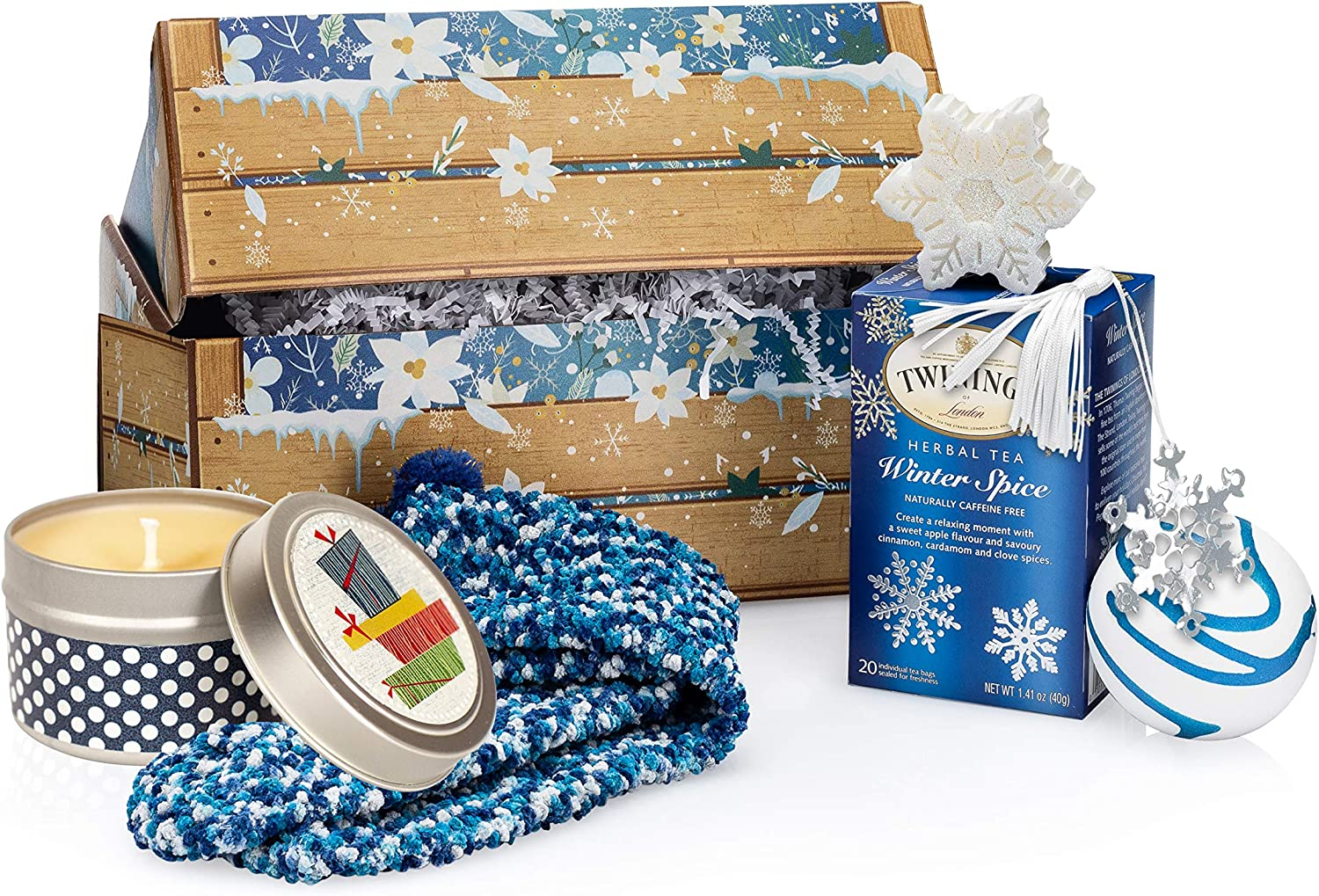 Gift Crates for Women: She'll Adore This As A Winter Gift Basket, Baskets, Birthday Care Packages for Women, Female Care Package, Thank You Gift Box Or Winter Care Package