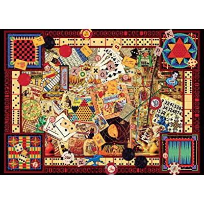 Ravensburger Vintage Games 1000 Piece Jigsaw Puzzle for Adults – Every piece is unique, Softclick technology Means Pieces Fit Together Perfectly: Toys & Games [5Bkhe1002473]