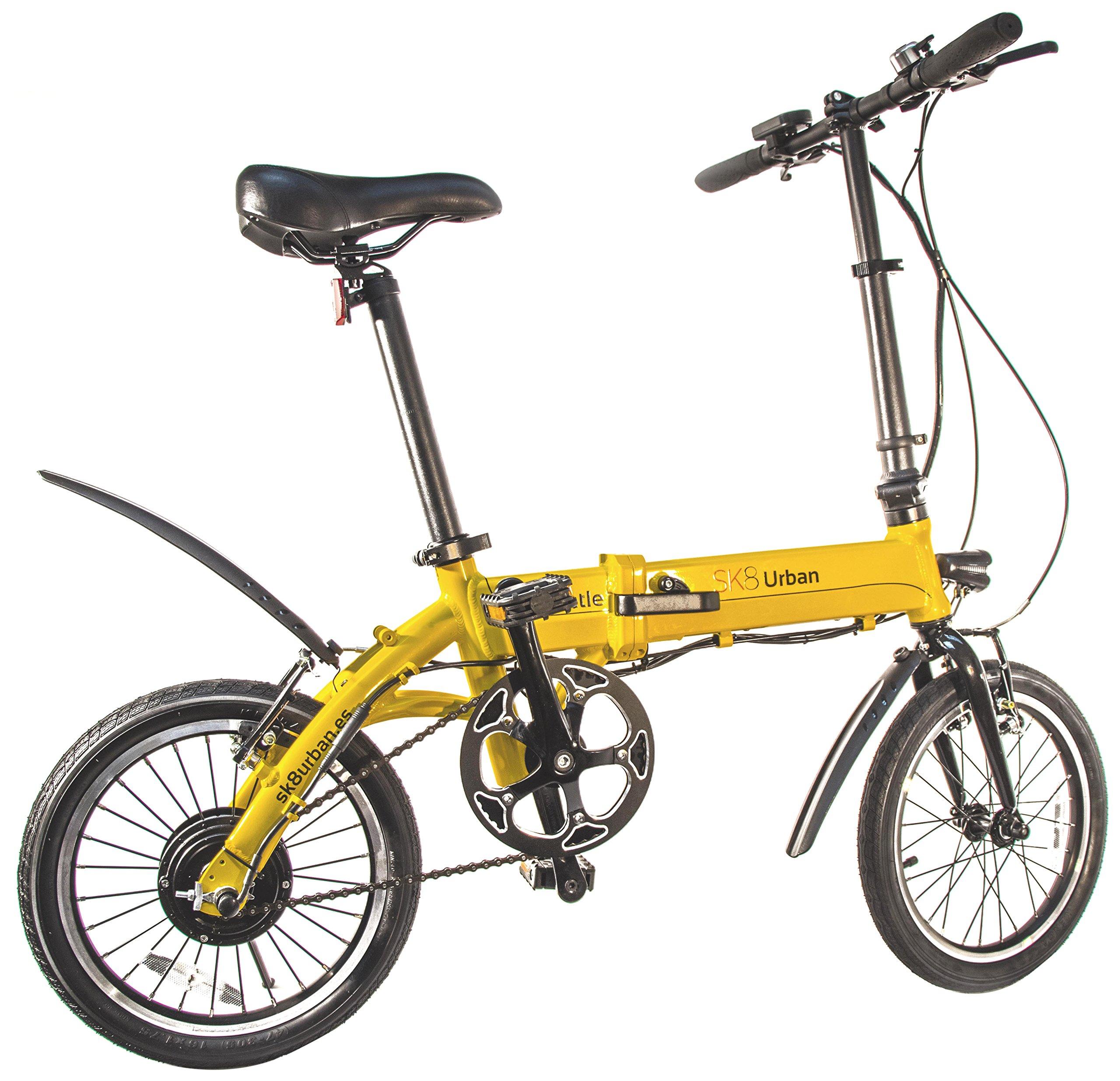 SK8 eBike Urban Beetle Bicicleta eléctrica plegable, Amarillo product image