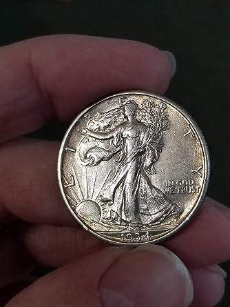 1934 -D WALKING LIBERTY SILVER HALF DOLLAR-VERY NICE DETAIL HALF