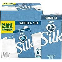 Silk Vanilla Soymilk 32-Ounce Aseptic Cartons (Pack of 6), Vanilla Flavored Non-Dairy...