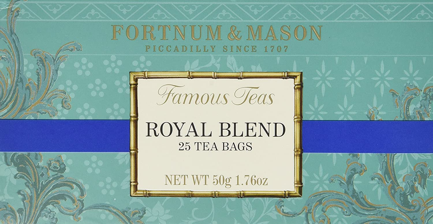 Fortnum & Mason British Tea, Royal Blend, 25 Count Teabags (1 Pack) - Model Id Rbsfl098b - USA Stock Fortnum & Mason London