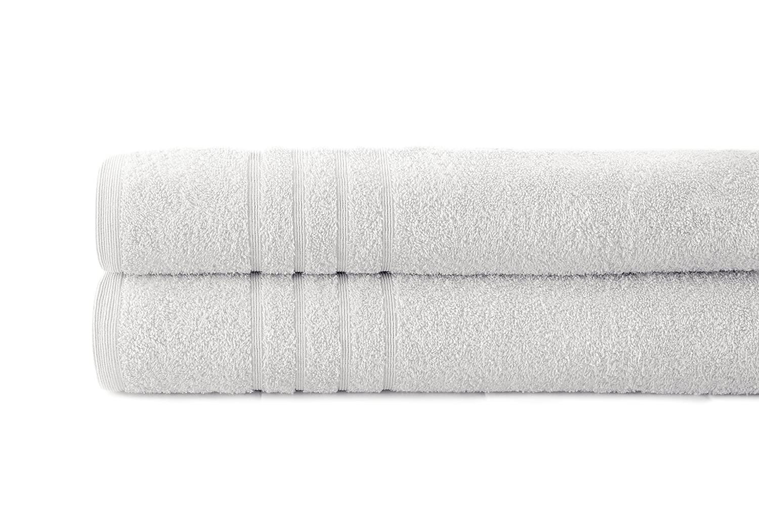 5CTNTL2G-IVY-ST Ivory Amrapur Overseas 2-Pack 100/% Combed Cotton Super Soft Oversized 450GSM Bath Sheet Set