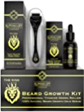 Beard Growth Kit - Derma Roller for Beard Growth .5mm + Facial Hair Growth Activator Serum | Microneedle Beard Roller…